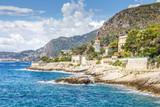 Coast in Cap d'Ail, Cote d'Azur, France - 259298776