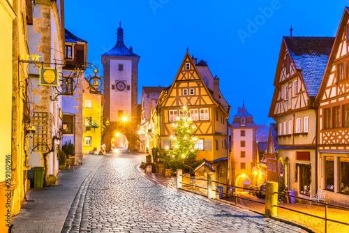 fototapeta na drzwi i meble Rothenburg ob der Tauber, Bavaria, Germany