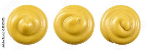 Mustard isolated. Mustard top view. With clipping path. Fototapet