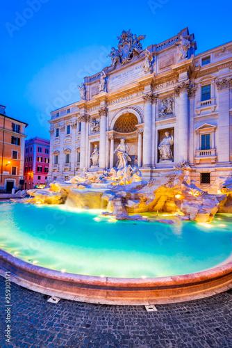 Garden Poster Rome Rome, Italy - Fontana di Trevi