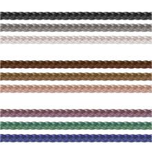Haberdashery Accessories. Decorative Braided Element Of Three Strand Cord Different Colors.