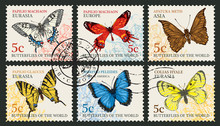 Vector Set Of Postage Stamps W...