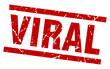 square grunge red viral stamp
