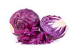 Red cabbage slice isolated on white background. full depth of field
