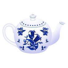 Porcelain Teapot For Tea Party...