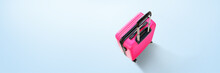 Banner Pink Suitcase Isolated ...