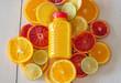 Citrus fruit and juice. Multy fruit juice