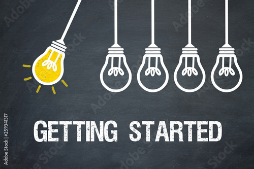 Getting Started Slika na platnu