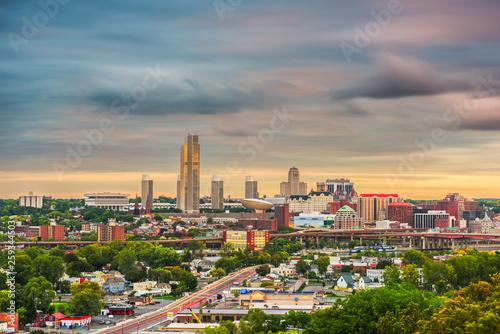 Photo Stands New York Albany, New York, USA skyline