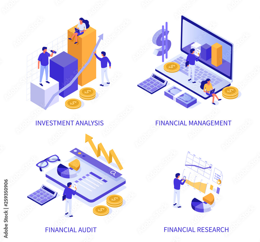 Fototapeta financial