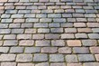 Close up of cobblestone roads and paths found in germany