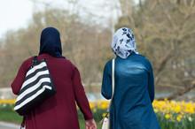 Portrait Of Veiled Muslim Wome...