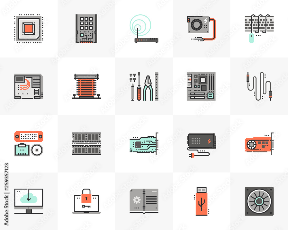 Fototapeta Computer Hardware Futuro Next Icons Pack