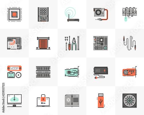 Obraz Computer Hardware Futuro Next Icons Pack - fototapety do salonu