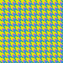 Yellow And Blue Houndstooth Se...