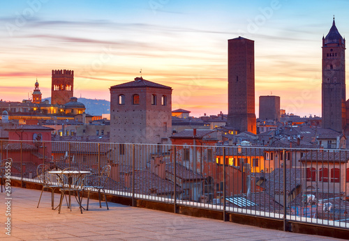 Bologna. Aerial view of the city. Tablou Canvas