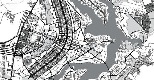 Photo Urban vector city map of Brasilia, Brazil