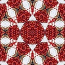 Red Strawberries Mandala Design