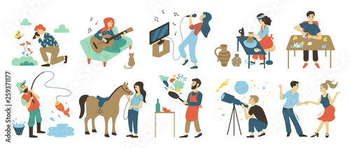 Photo  Talents and skills, hobbies vector