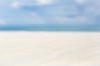 White sand background and decoration of sea sky and sun