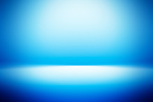 Perspective Floor Backdrop Blue Room Studio With Light Blue Gradient Spotlight Backdrop Background For Display Your Product Or Artwork