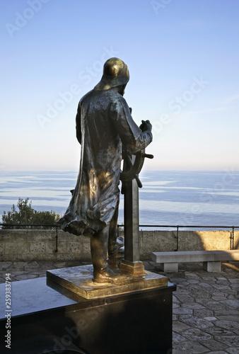 Monument to Albert I in Gardens of St. Martin. Monaco-Ville. Principality of Monaco
