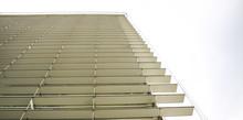 Adjustable Sun Control Louver And Solar Shading (horizontal) On Modern Building Facade.