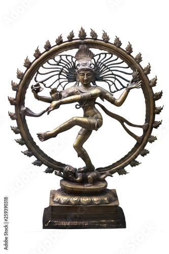 Shiva Nataraja figurine. Isolated