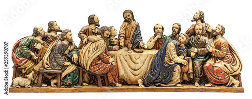 Photo Last Supper depiction. Isolated