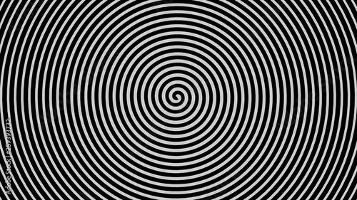 Papiers peints Spirale Espiral hipnótica negro.