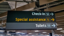 Airport Signage For Check In A...
