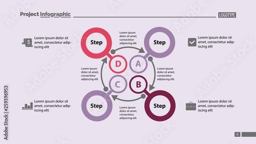 Four Steps Process Slide Template 2 Wallpaper Mural