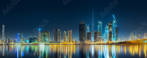 Tuinposter Dubai Panoramic view of Dubai Business bay, UAE