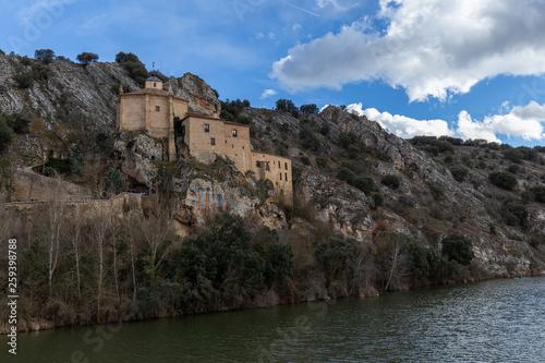 San Saturio church next to Duero river in Soria