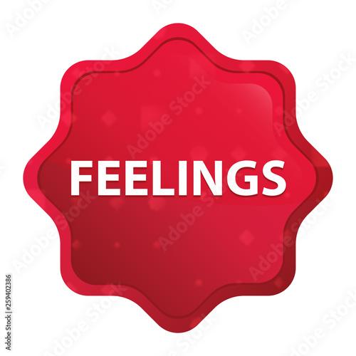 Fotografie, Obraz  Feelings misty rose red starburst sticker button