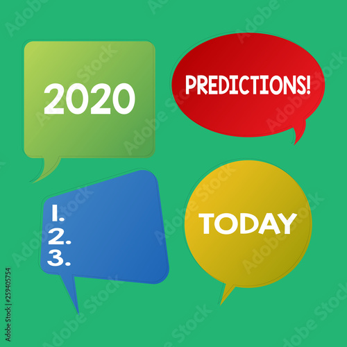 Word writing text 2020 Predictions  Business photo