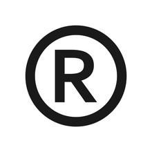 Registered Trademark Or Copyright R Sign. Copyright R Sign, Registered Trademark Icon. Registered Trademark Or Copyright R Sign, Black Color.