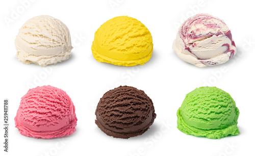 Photo  ice cream ball