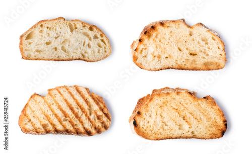 Fotografía slices toast bread