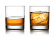 canvas print picture - Glass of whisky