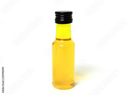 Canvastavla Gelbe Flasche auf weißem Hintergrund / Yellow bottle on white background