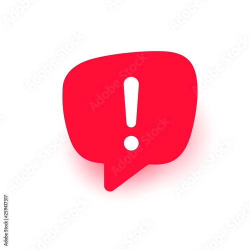Photo Exclamation vector icon, important mark, attention logo, warning speech bubble,