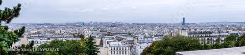 Foto op Aluminium Algerije Skyline of a city Paris with a great view.