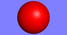Red Ball On Slate Background
