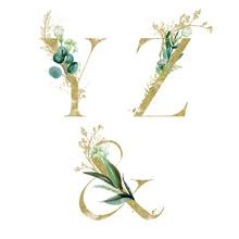 Gold Floral Alphabet Set - Let...