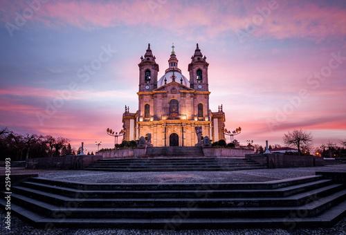 Fotografie, Obraz  Santuário do Sameiro nascer do Sol Braga Portugal