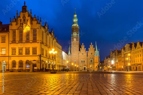 Obraz Ratusz na Rynku we Wrocławiu - fototapety do salonu