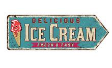 Ice Cream Vintage Rusty Metal ...