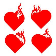 Bonfire Set. Burning Hearts