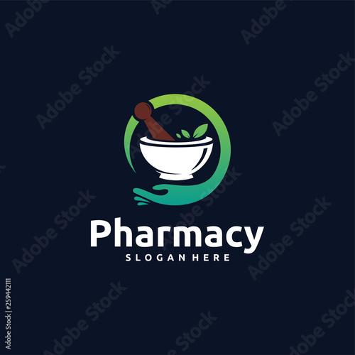 Photo  Pharmacy Logo designs concept vector, Science Logo symbol